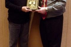 AINA President, Mel Wacks, presenting the Ben & Sylvia Odesser award to Oded Paz, August 2013