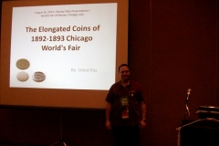 Oded Paz' Money Talks Presentation on the 1892-1893 Elongated Coins of the Chicago World's Fair, August 17, 2013